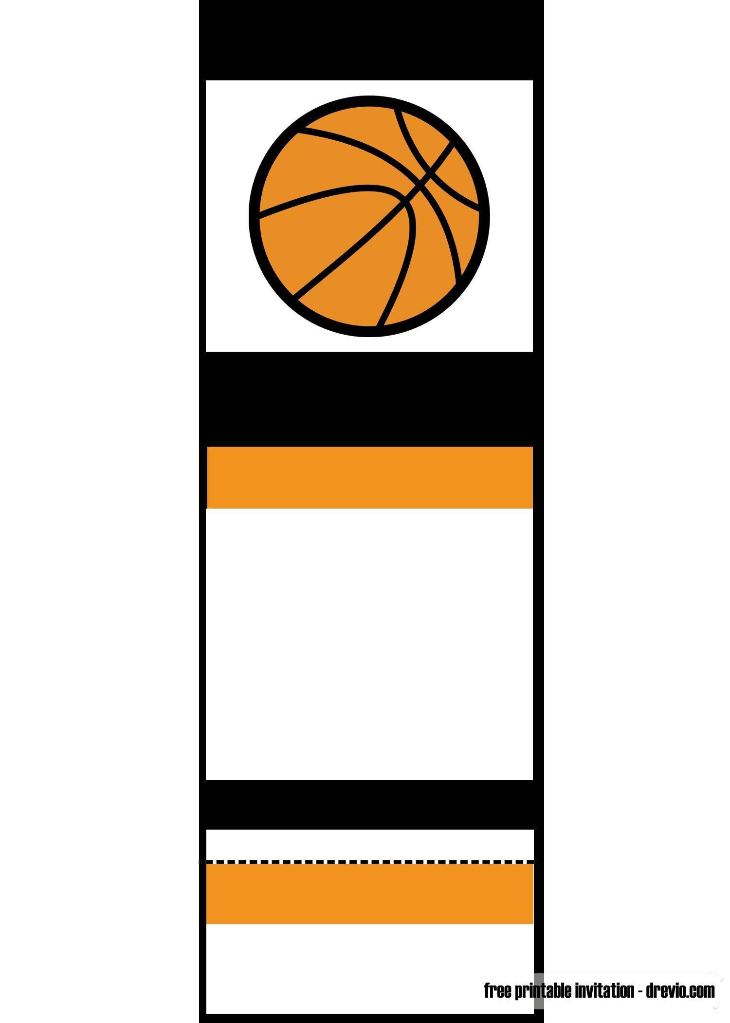 Free Printable Basketball Ticket Invitation | Unc Vs Gonzaga - Basketball Invites Free Printable
