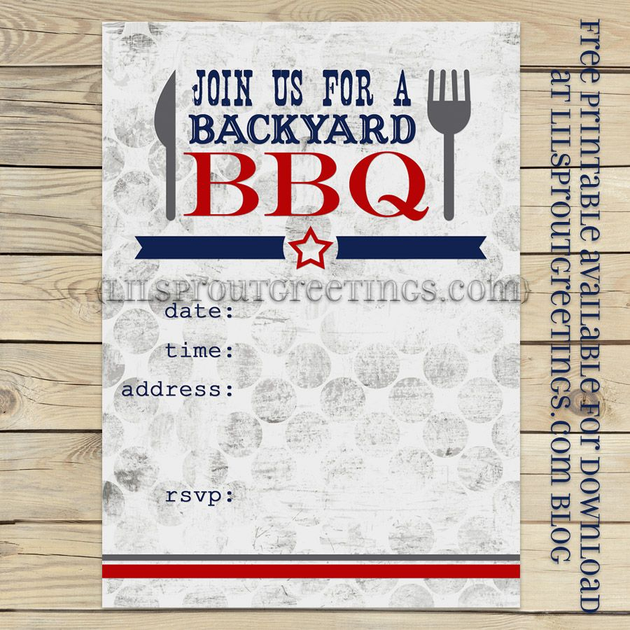 Free Printable Bbq-Cookout Invitation | Free Printables | Pinterest - Free Printable Cookout Invitations