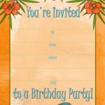 Free Printable Beach Party, Luau And Bbq Invitations Templates   Free Printable Beach Pictures