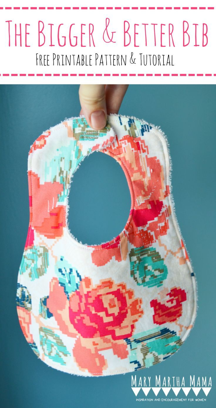 Free Printable Bib Pattern And Stepstep Tutorial- Make The - Free Printable Bib Pattern
