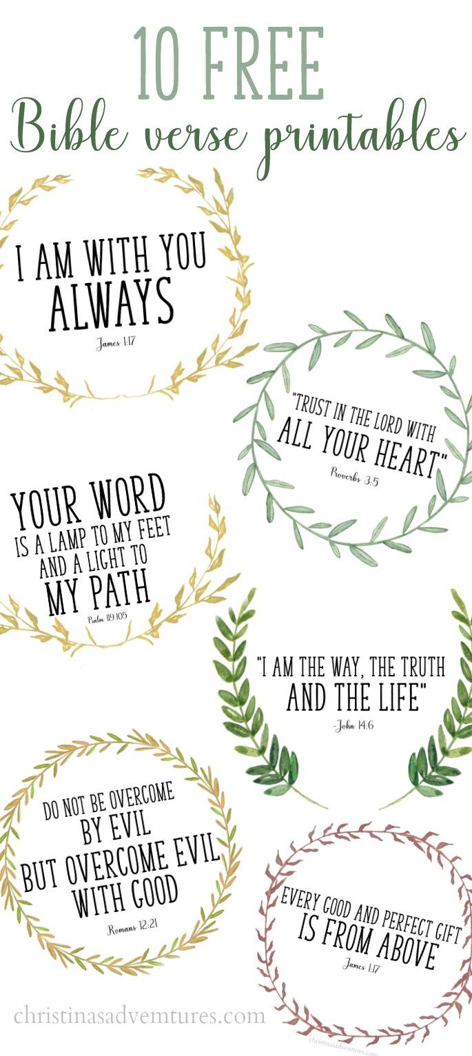 Free Printable Bible Verses - Christinas Adventures - Free Printable Bible Verses Adults