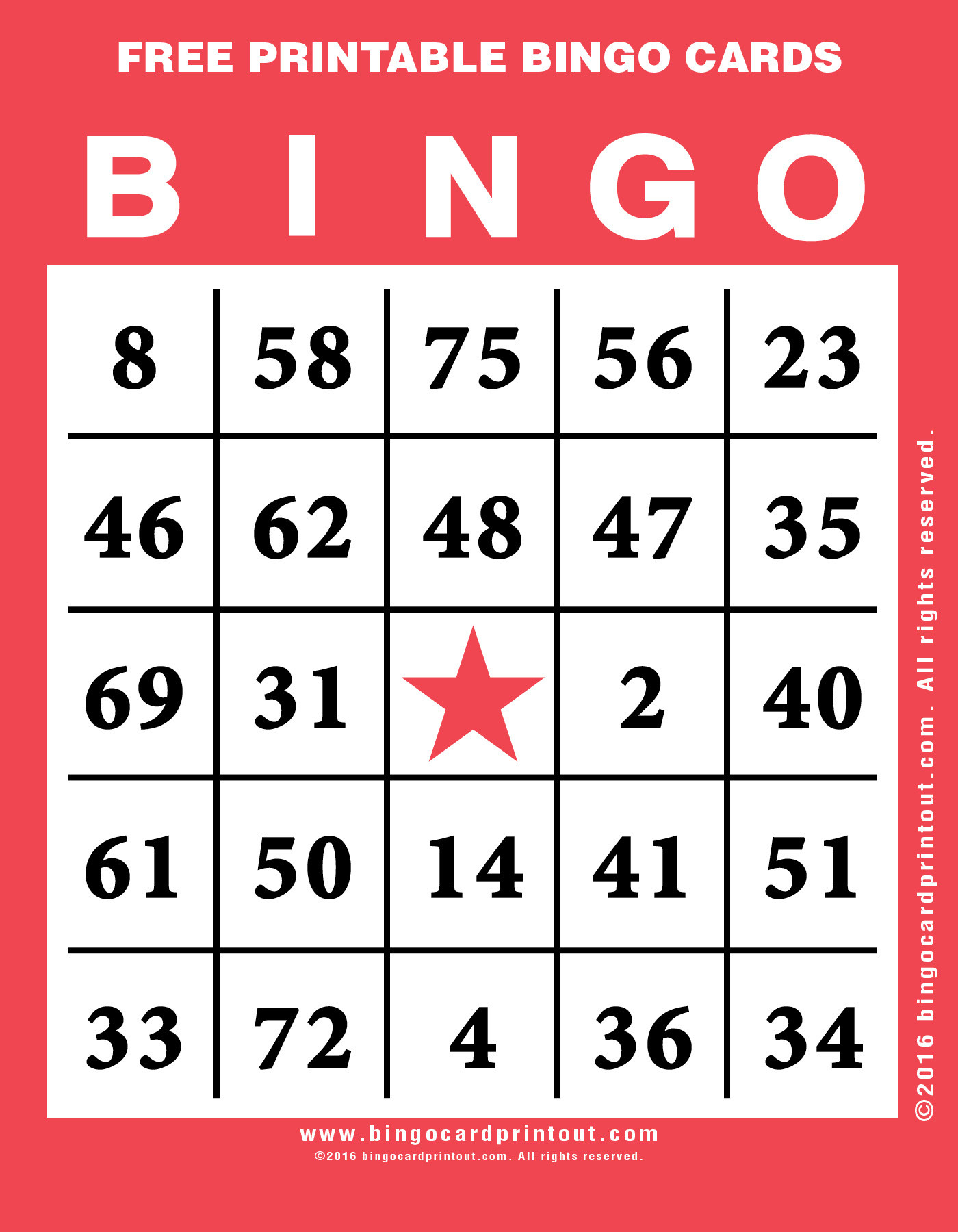 Free Printable Bingo Cards 1 75 | Cardide.co - Free Printable Bingo Cards 1 75