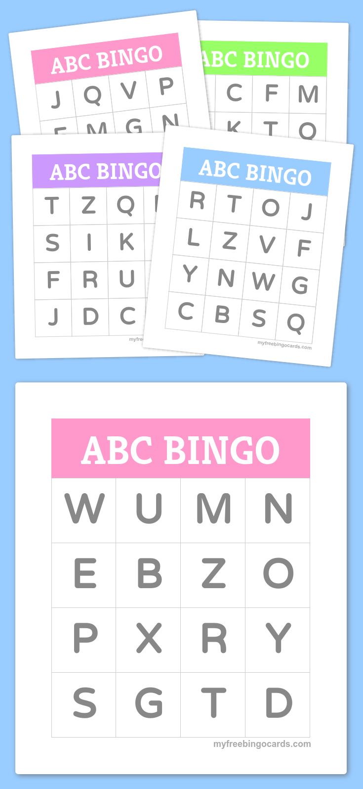 Free Printable Bingo Cards | Bingo Cards | Pinterest | Preschool - Free Printable Alphabet Bingo Cards