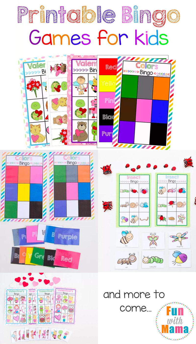 Free Printable Bingo Cards For Kids - Fun With Mama - Free Printable Bingo Games