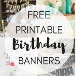 Free Printable Birthday Banners   The Girl Creative   Diy Birthday Banner Free Printable