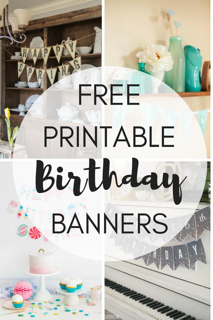 Free Printable Birthday Banners - The Girl Creative - Free Happy Birthday Printable Letters