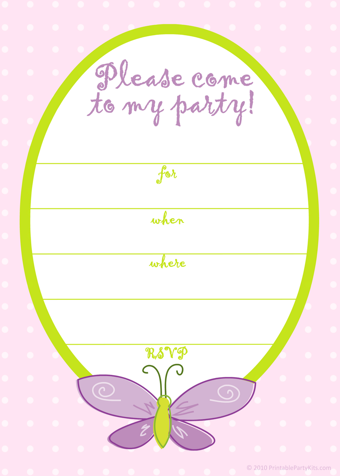 Free Printable Birthday Card Invitation Templates | Invitations In - Free Printable Girl Birthday Invitations