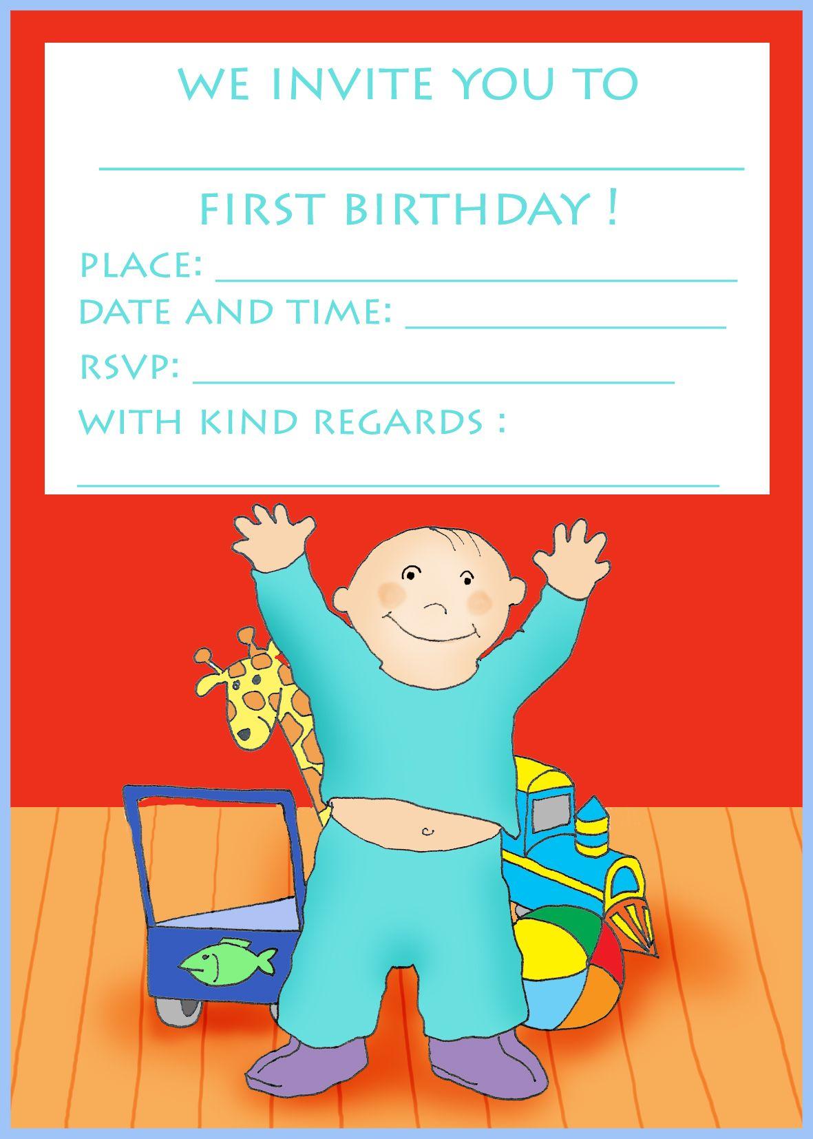 Free Printable Birthday Cards Boy Happy With Toys | Kids Party Food - Free Printable Kids Birthday Cards Boys