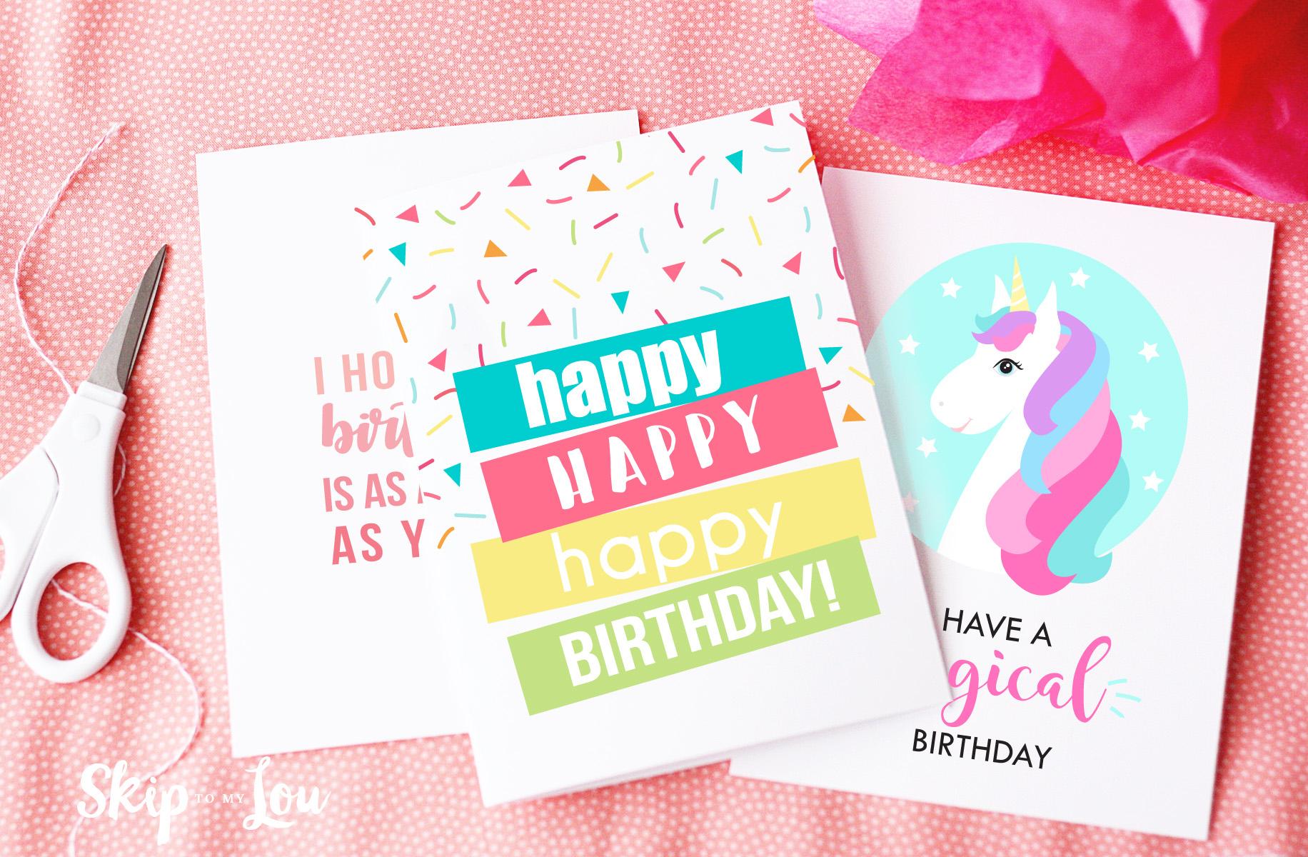 Free Printable Birthday Cards   Skip To My Lou - Free Printable Birthday Cards For Adults