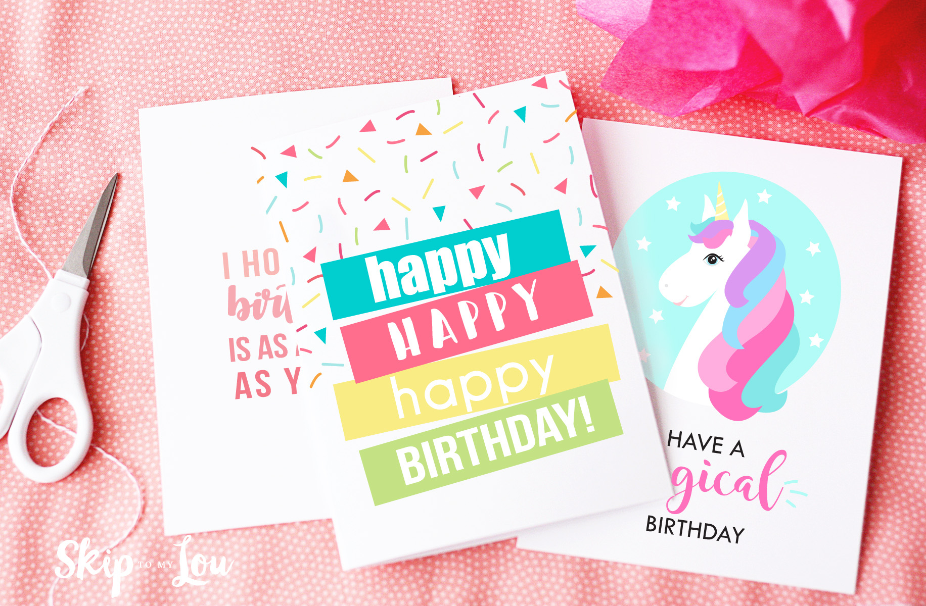 Free Printable Birthday Cards | Skip To My Lou - Free Printable Birthday Cards