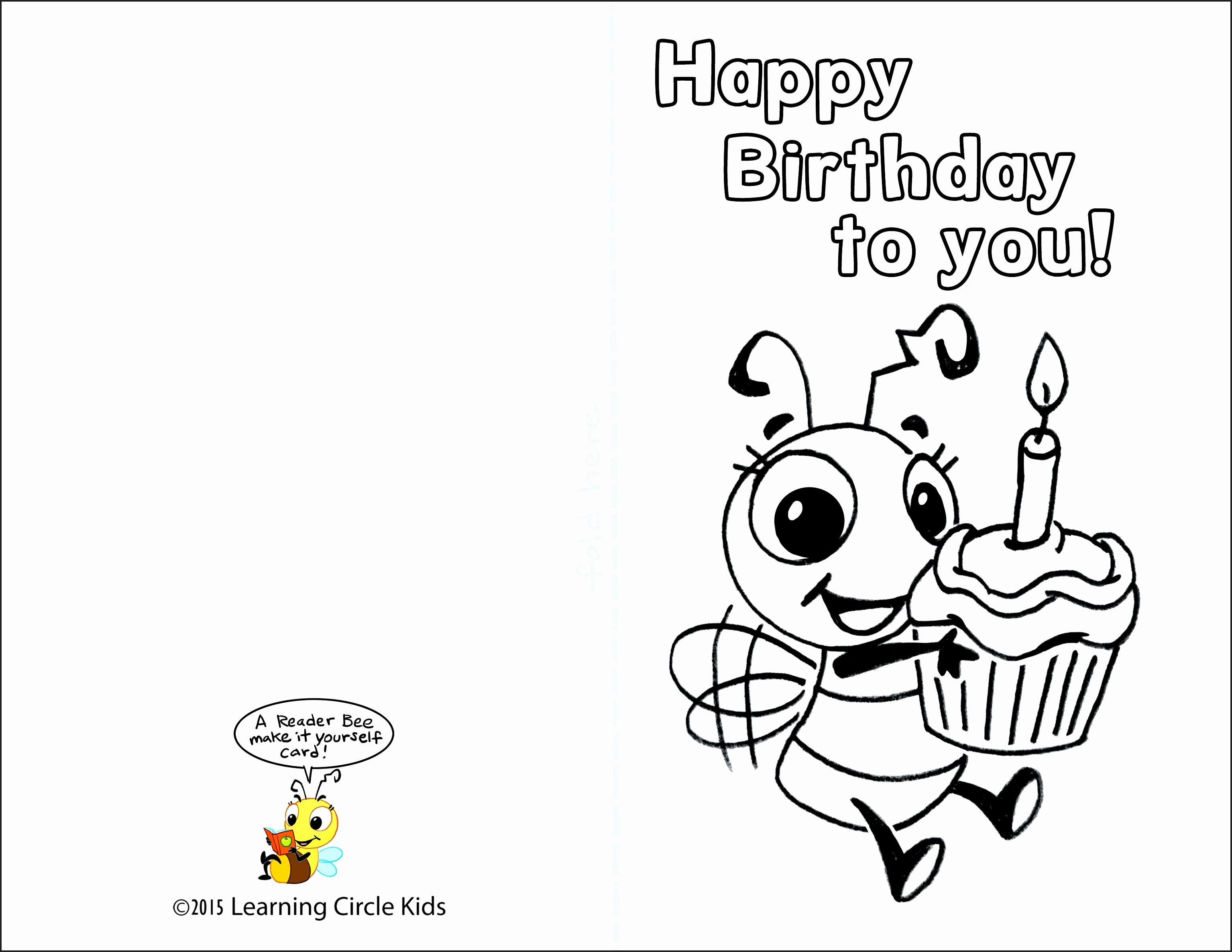 Free Printable Birthday Cards To Color - Printable Cards - Free Printable Cards To Color