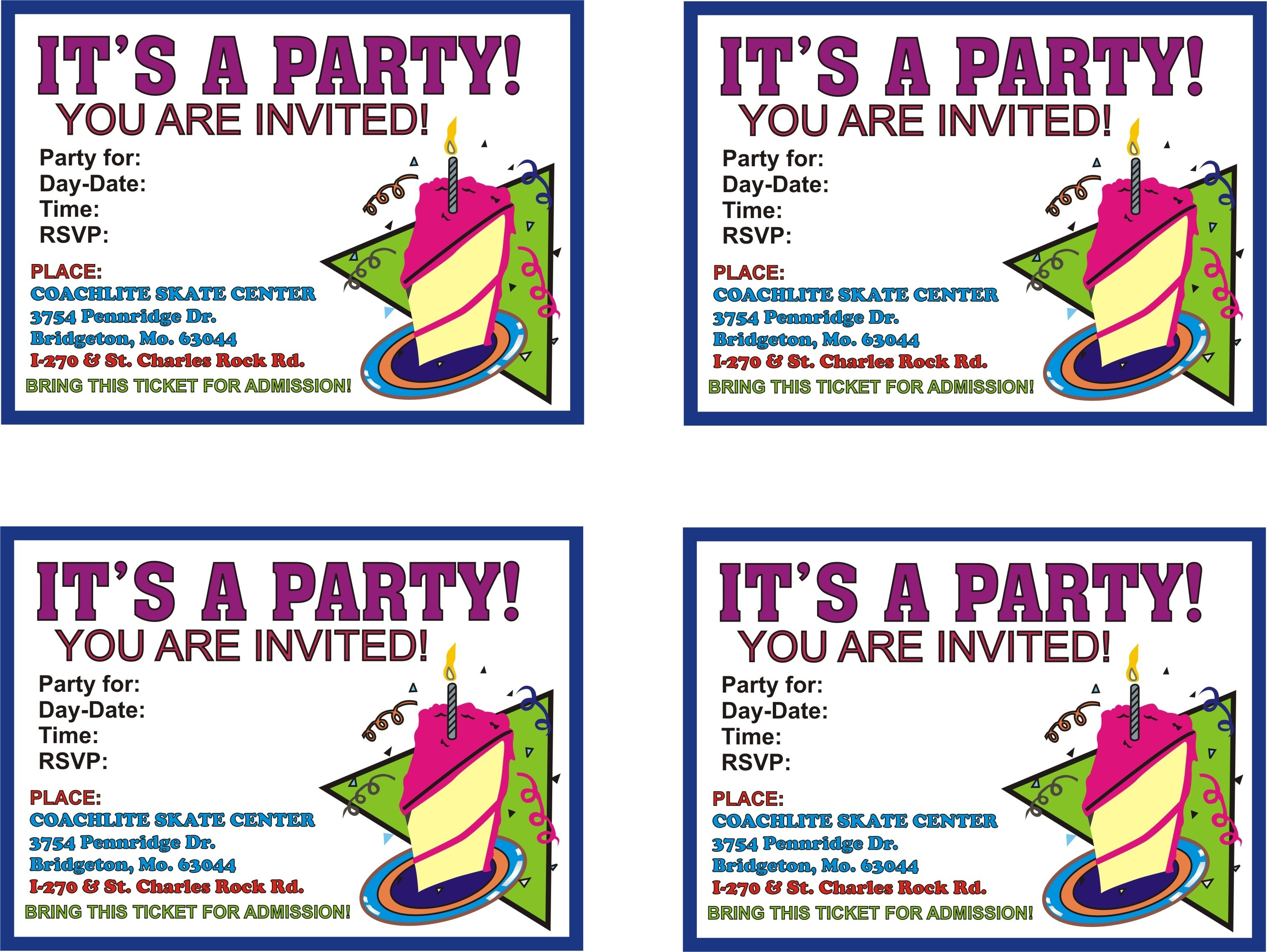 Free Printable Birthday Flyer Templates Party Invitations Nuruf - Free Printable Birthday Invitations With Pictures