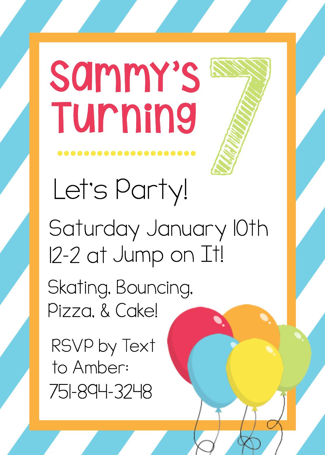 Free Printable Birthday Invitation Templates - Free Printable Animal Print Birthday Invitations