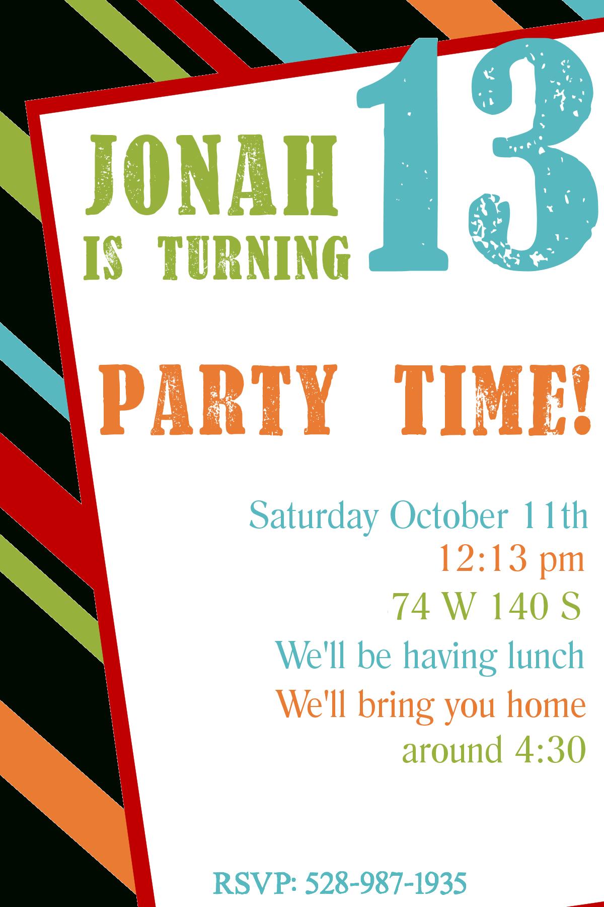 Free Printable Birthday Invitation Templates - Free Printable Birthday Invitations For Kids