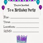 Free Printable Birthday Invitations For Kids #freeprintables   Free Printable Birthday Invitation Cards Templates