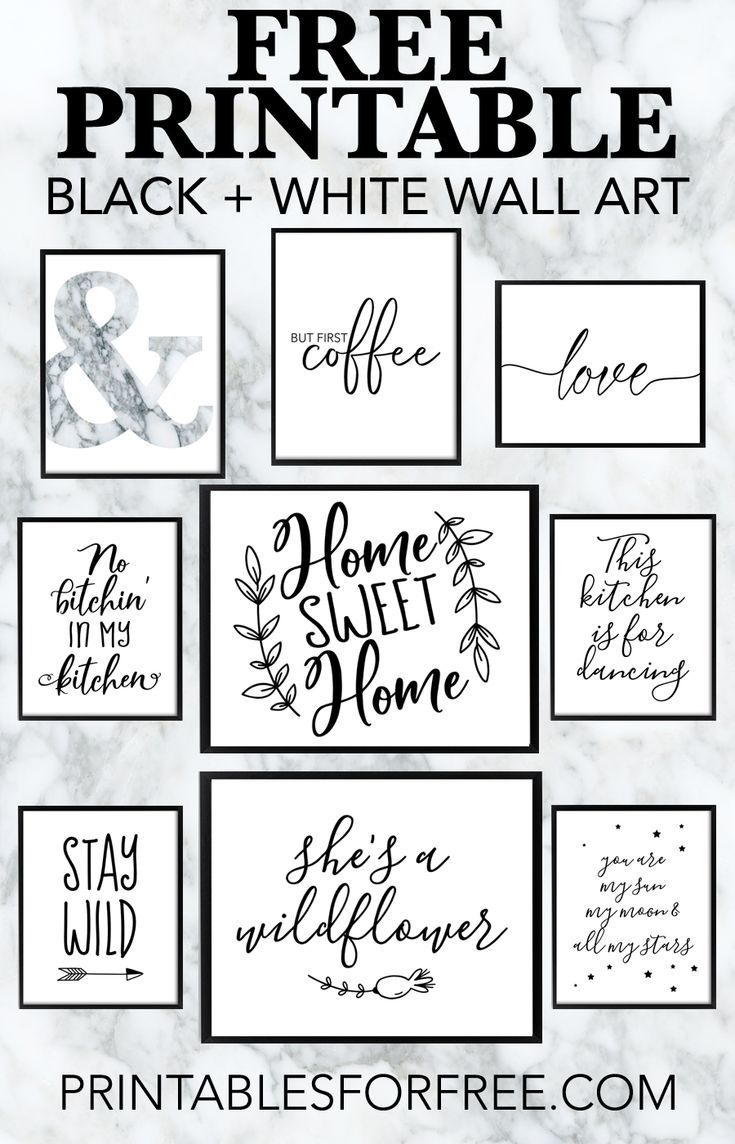 Free Printable Black And White Wall Art - Download And Print Your - Free Black And White Printable Art