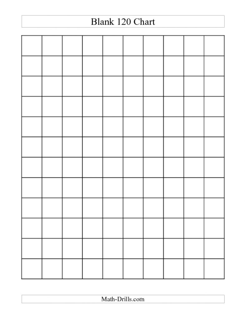 Free Printable Blank 1 120 Chart   Free Printable - Free Printable Blank 1 120 Chart