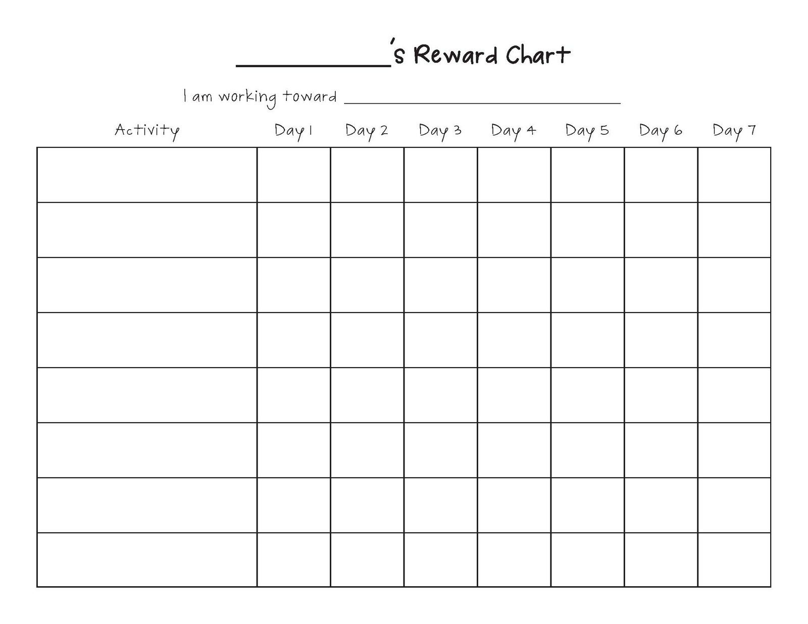 Free Printable Blank Charts | Printable Blank Charts Image Search - Free Printable Charts And Lists