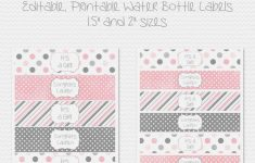 Free Printable Water Bottle Label Template