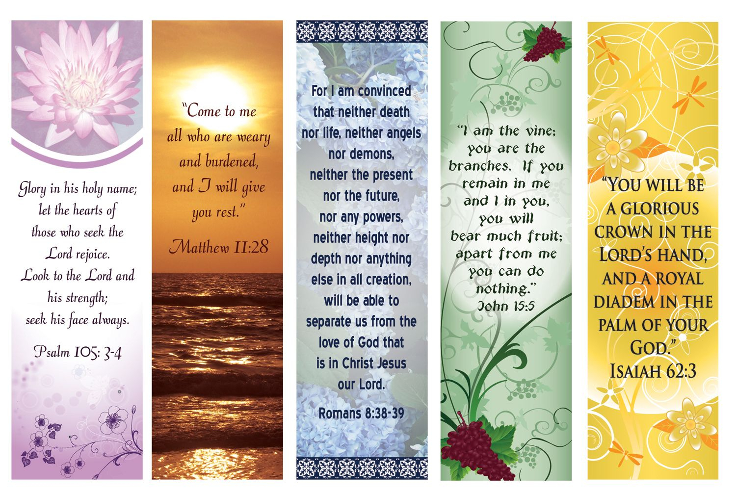 Free Printable Bookmarks With Bible Verses | Bookmarks | Pinterest - Free Printable Bible Bookmarks Templates