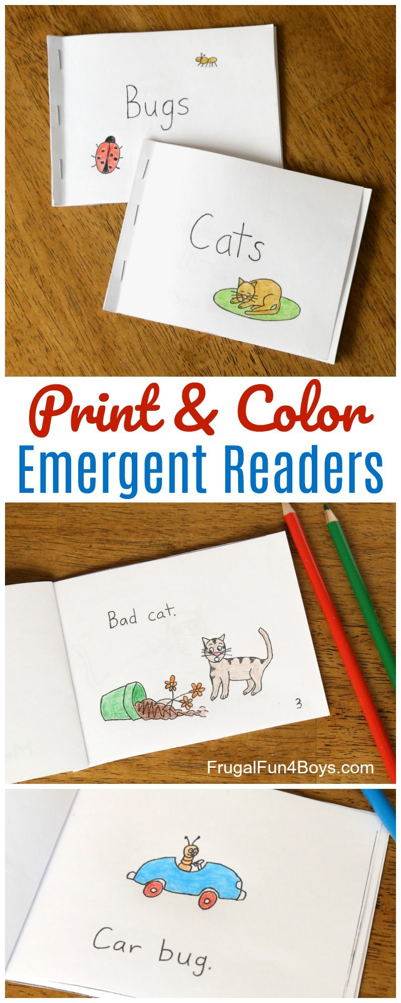 Free Printable Books For Beginning Readers - Level 1 (Easy - Free Printable Phonics Books For Kindergarten