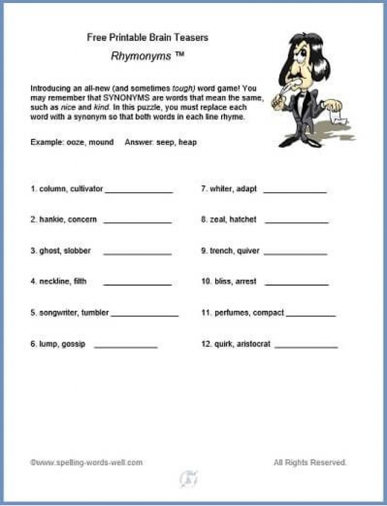 Free Printable Brain Teasers | Brain Games And Teasers | Pinterest - Free Printable Brain Teasers