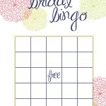 Free Printable Bridal Shower Bingo   Image Cabinets And Shower   Free Printable Bridal Shower Bingo