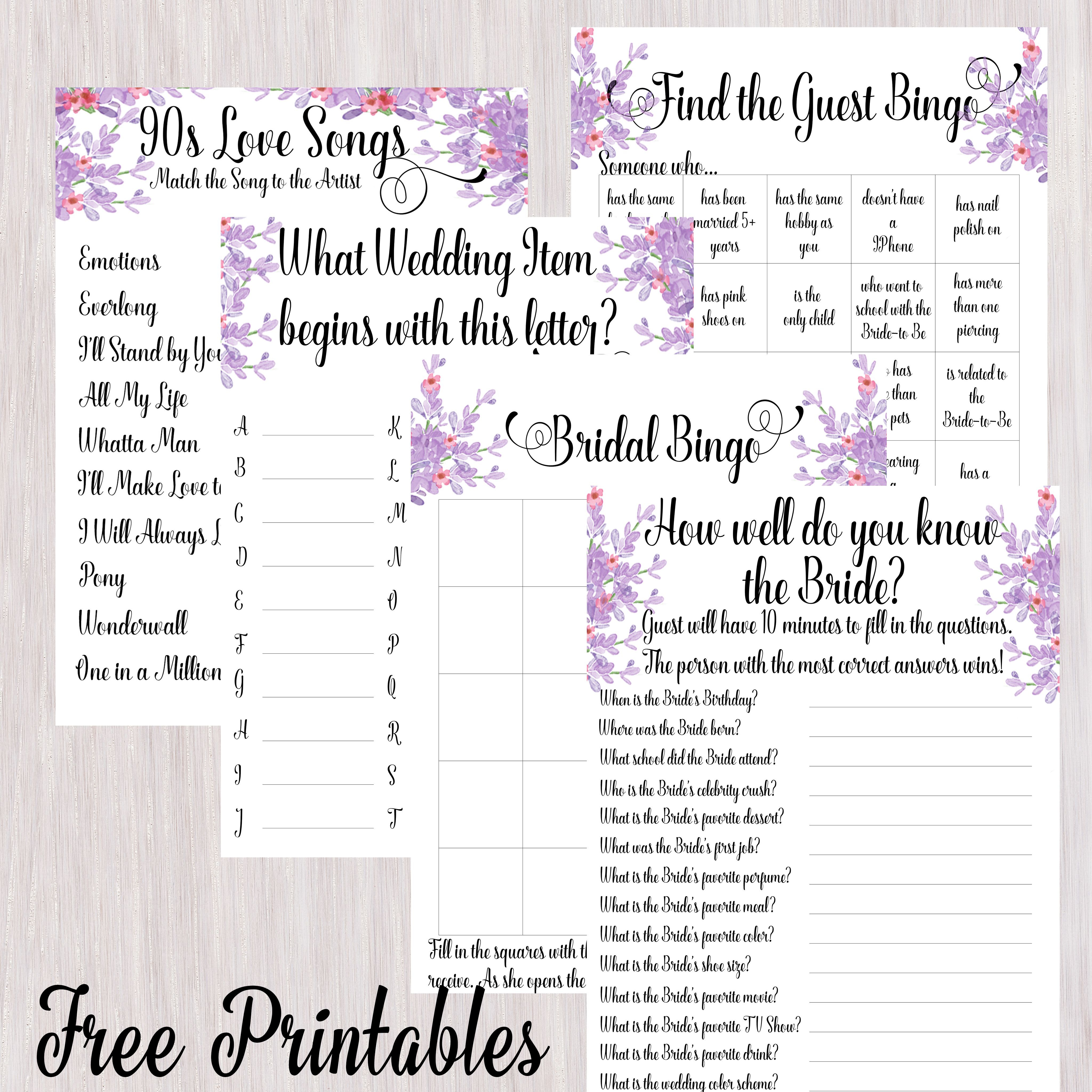 Free Printable Bridal Shower Games Disney Love Songs 90S Love Songs - Free Printable Bridal Shower Raffle Tickets