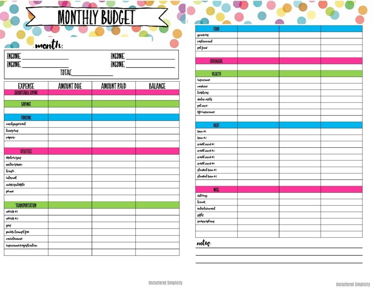 Free Printable Budget Planner | Bestprintable231118 - Free Printable Home Budget Planner