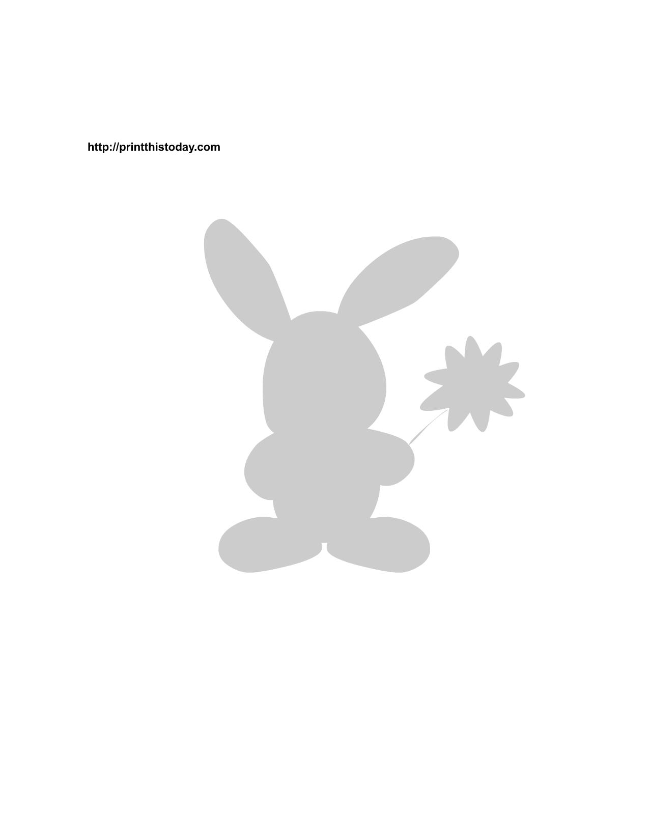 Free Printable Bunny Stencils - Free Printable Bunny Pictures