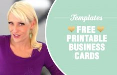 Free Printable Business Card Templates