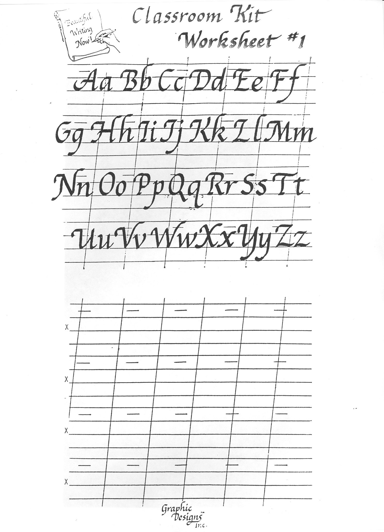 Free Printable Calligraphy Alphabet Practice Sheets | Scrapbooking - Calligraphy Practice Sheets Printable Free