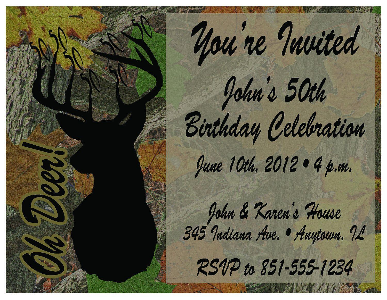 Free Printable Camo Birthday Invitations | Nono | 50Th Birthday - Free Printable Camouflage Invitations