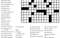 Free Printable Crosswords Easy
