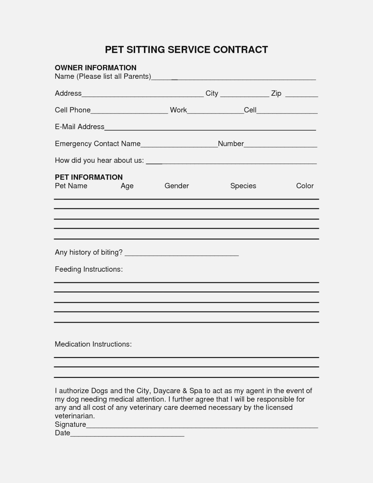 Free Printable Caregiver Forms Luxury Medical Permission Letter - Free Printable Caregiver Forms