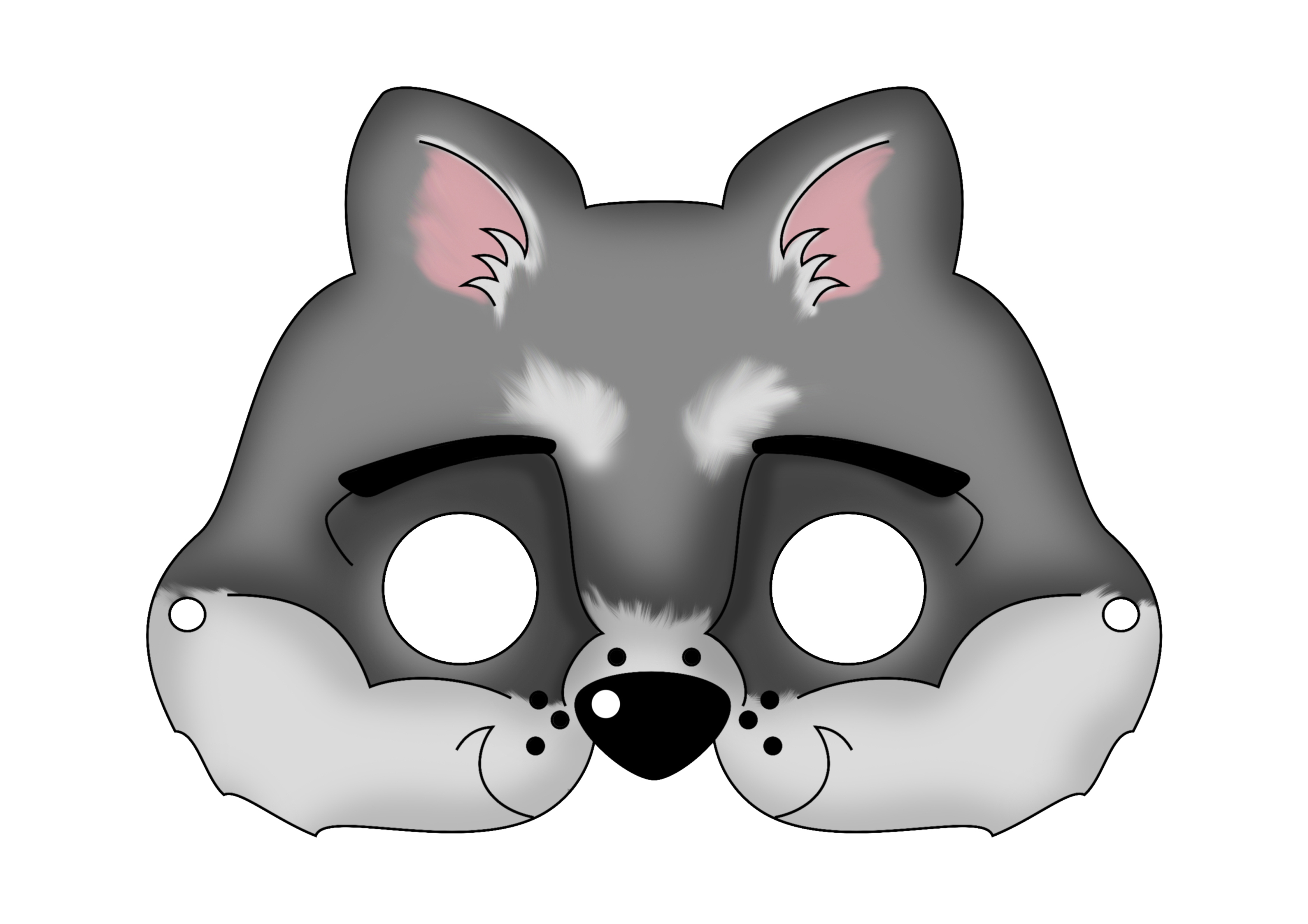Free Printable Carnival Masks For Kids - Free Printable Wolf Face Mask