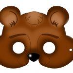 Free Printable Carnival Masks For Kids.   Ideas   Bear Mask, Mask   Free Printable Bear Mask