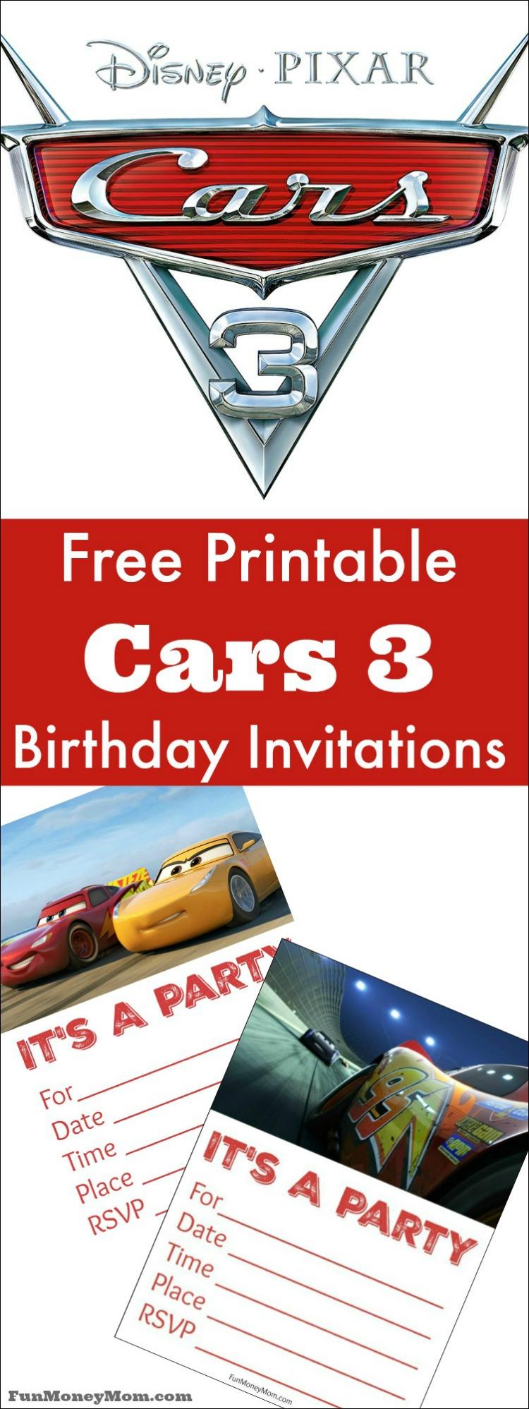 Free Printable Cars Birthday Invitations - Fun Money Mom - Free Printable Disney Cars Birthday Party Invitations
