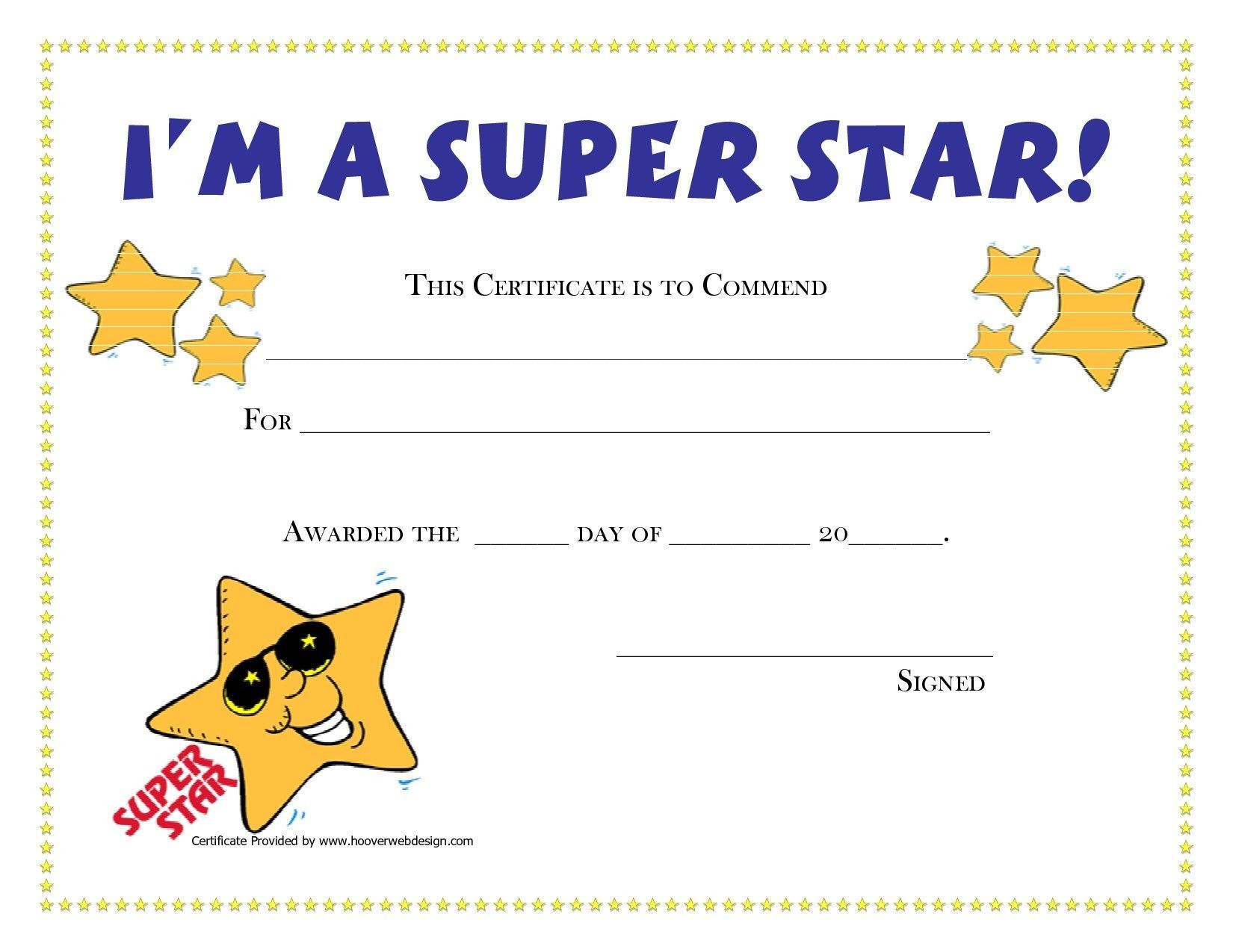 Free Printable Childrens Certificates Templates - Reeviewer.co - Free Printable Children's Certificates Templates