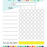 Free Printable   Chore Chart For Kids | Ogt Blogger Friends   Free Printable Chore Charts