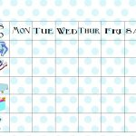 Free Printable Chore Chart   Free Printable Chore Charts