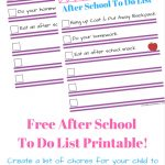 Free Printable Chore List For Kids!   Must Have Mom   Free Printable Kids To Do List