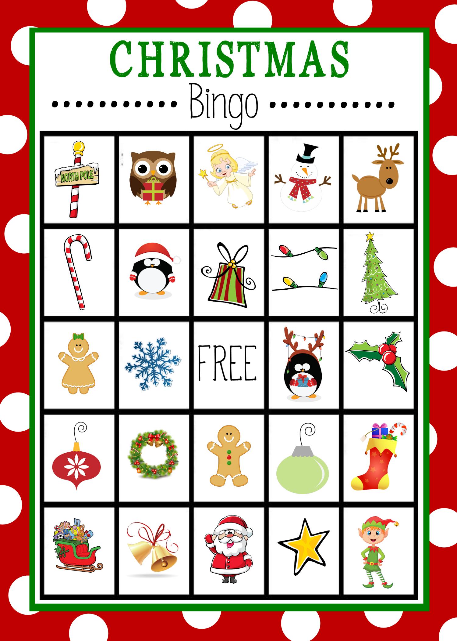 Free Printable Christmas Bingo Game | Christmas | Pinterest - Free Printable Bingo Cards For Large Groups