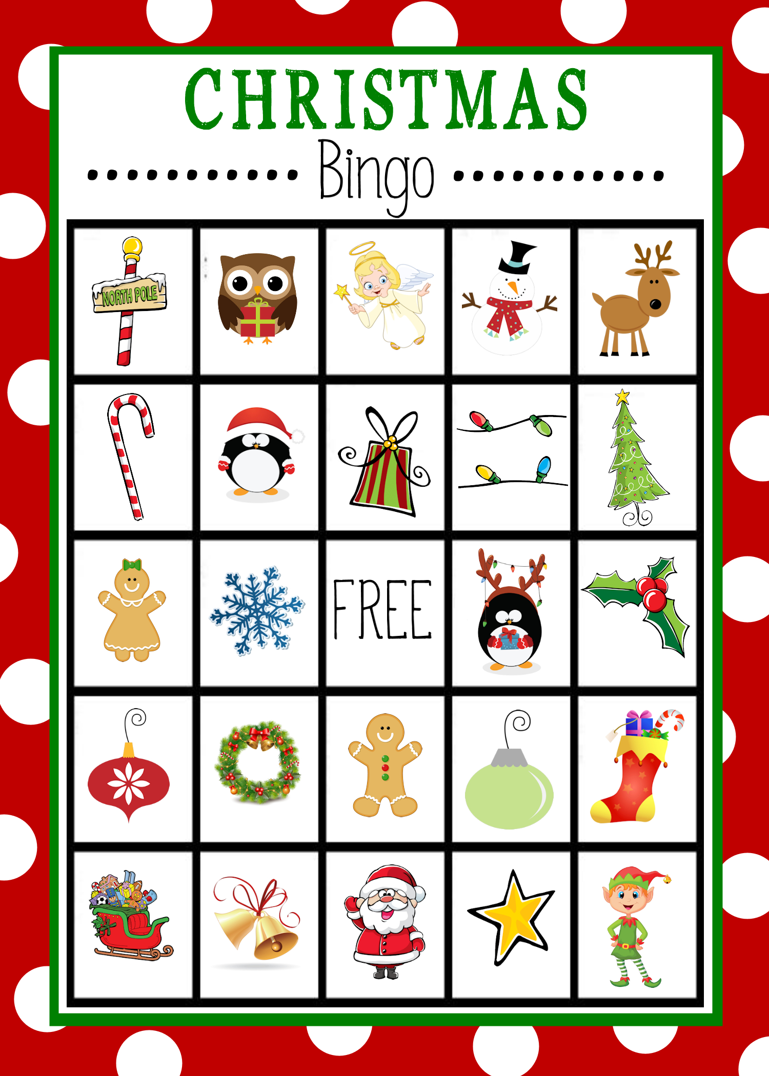 Free Printable Christmas Bingo Game | Christmas | Pinterest - Free Printable Christmas Board Games