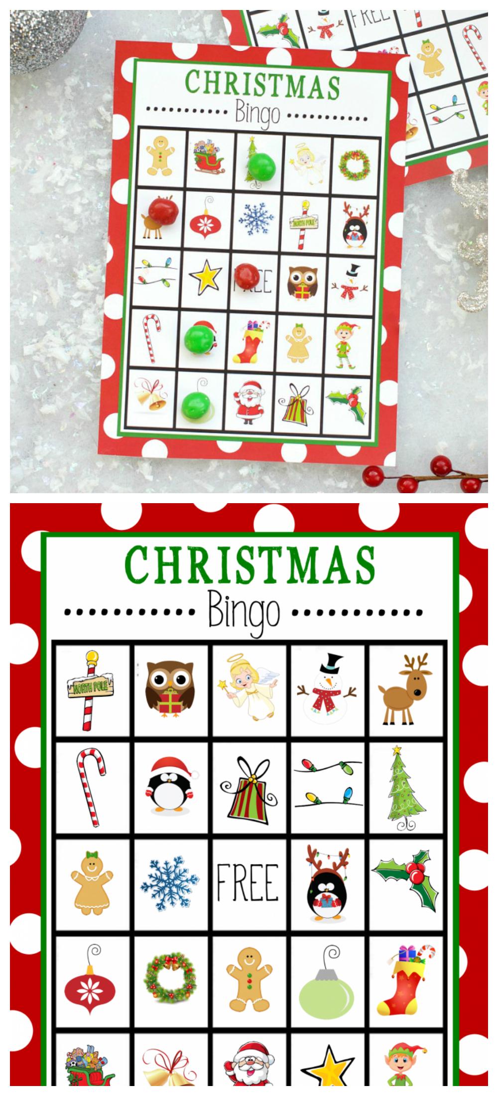 Free Printable Christmas Bingo Game – Fun-Squared - Free Printable Christmas Bingo