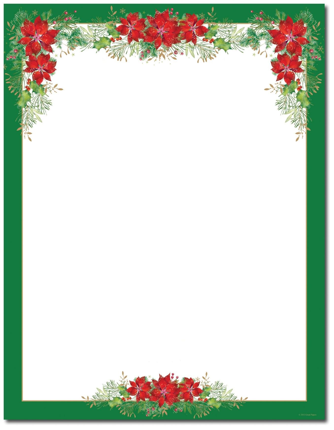 Free Printable Christmas Border Templates Intended For Free - Free Printable Christmas Borders
