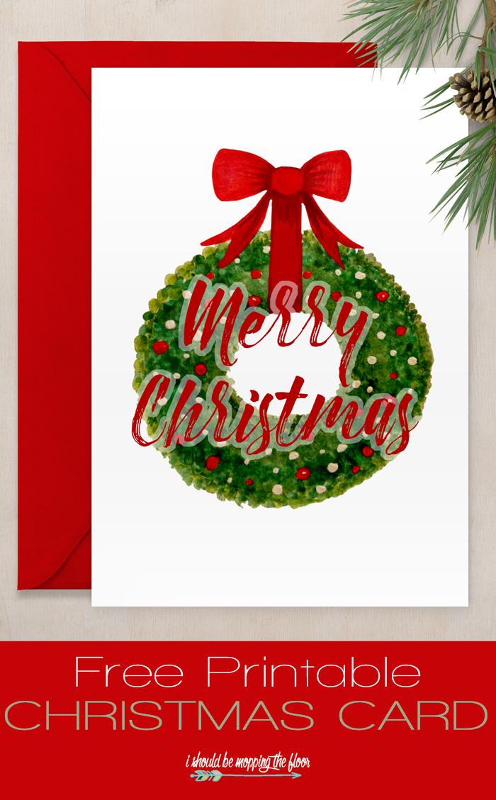 Free Printable Christmas Card   Sharing Christmas Spirit   Pinterest - Free Printable Xmas Cards Download