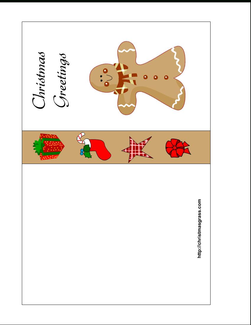 Free Printable Christmas Cards | Free Printable Christmas Card With - Free Printable Place Card Templates Christmas