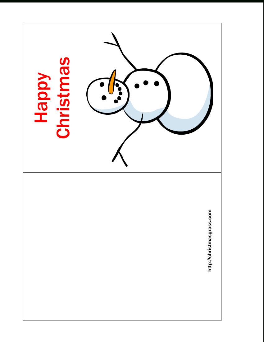 Free Printable Christmas Cards | Free Printable Happy Christmas Card - Free Printable Christmas Cards To Color