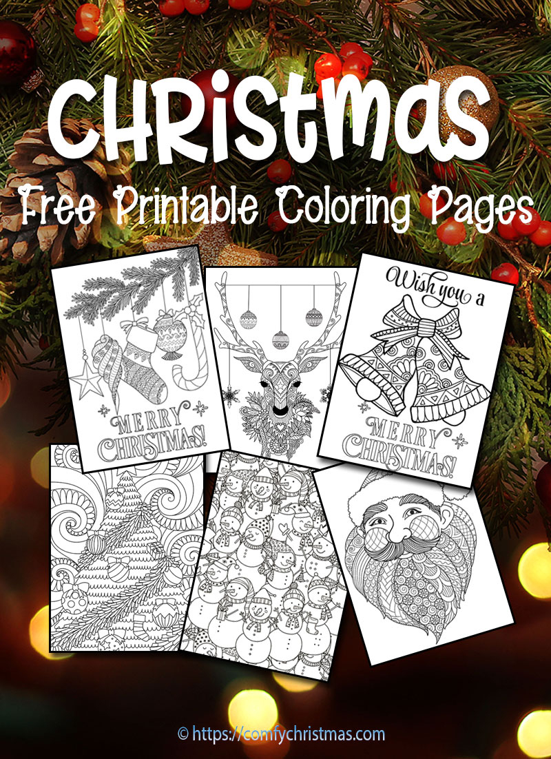 Free Printable Christmas Coloring Pages • Comfy Christmas - Free Printable Christmas Coloring Pages And Activities